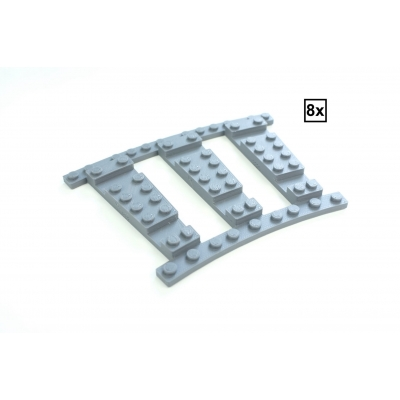Ballast Plaat R32 Set - 8 stuks voor 8 R32 tracks