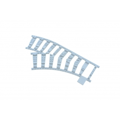 Ballast Plaat voor Wissel in bocht 45 graden Links R40