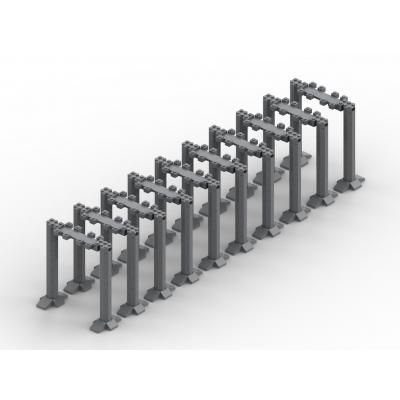 Brug 2.0 Hoogste steunpalen - 10 segmenten