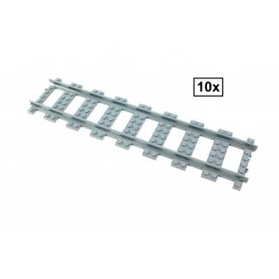 Dubbele lengte Rechte Rails Set - 10 stuks